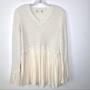 Altar'd State Rowena Beige Sweater Size Medium